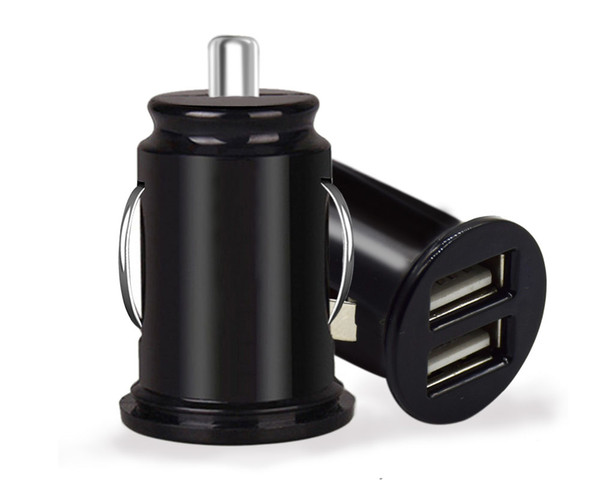 Car Universal Cigarette Lighter Charger Adapter Automobile Mini Dual USB 2 Port 5V 2.1A Car Charger for Mobile Phone