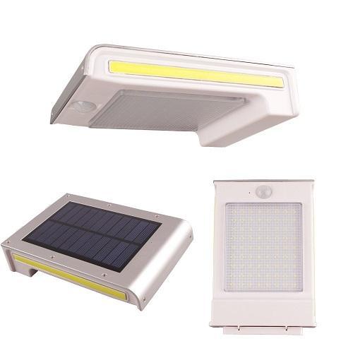 72 LED 800LM À Prova D 'Água Solar PIR Sensor de Movimento Da Parede de Luz Ao Ar Livre Lâmpada Do Jardim 3 Lados Emitir Piscina de Segurança Porta de Iluminação Solar