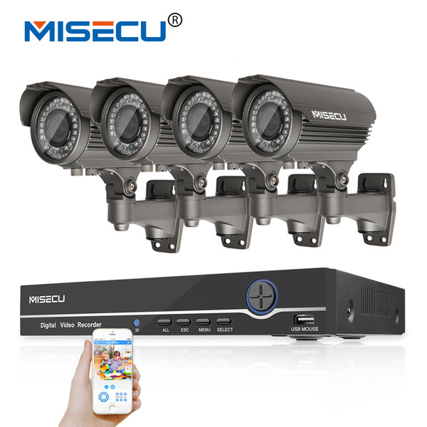 Onvif 1080 P 8CH HD KIT NVR interruptor POE real 48 V 2MP 4 pc POE módulo IP 42 pcs IR 2.8-12mm Zoom lente Da Câmera À Prova D 'Água P2P kit de cctv