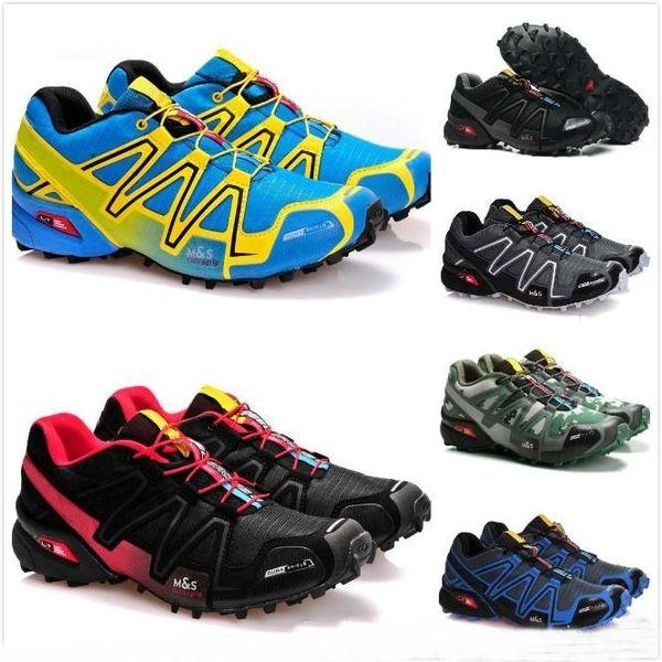 2018 chegam novas zapatillas speedcross 3 salomon solomon CS tênis de corrida curta ao ar livre velocidade cruz tênis esportivos iii athletic caminhadas tamanho 46