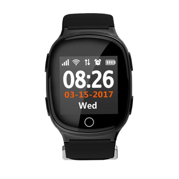 fa4c27d36b96 D100 GPS Tracker Reloj pulsera para ancianos Aplicación móvil Google Map  Call Button Despegue alarma GSM
