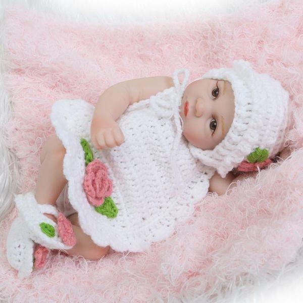 26cm / 10 pouces Silicone Bébé Reborn Baby Menina Nouveau-Né Bébé Poupées Full Body Porter Bebe Infant Clothes Vraiment Enfants Playmates