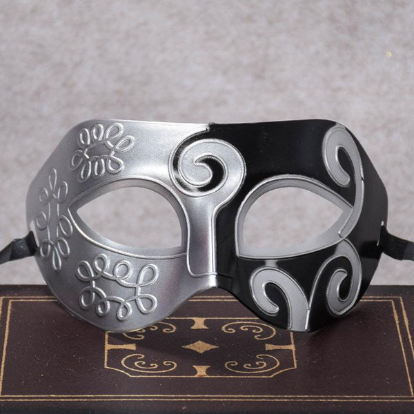 Retro greco-romano Gladiador máscaras dos homens máscaras de Masquerade Do Vintage De Ouro / Prata de prata Carnaval Mens Halloween Costume Party Mask