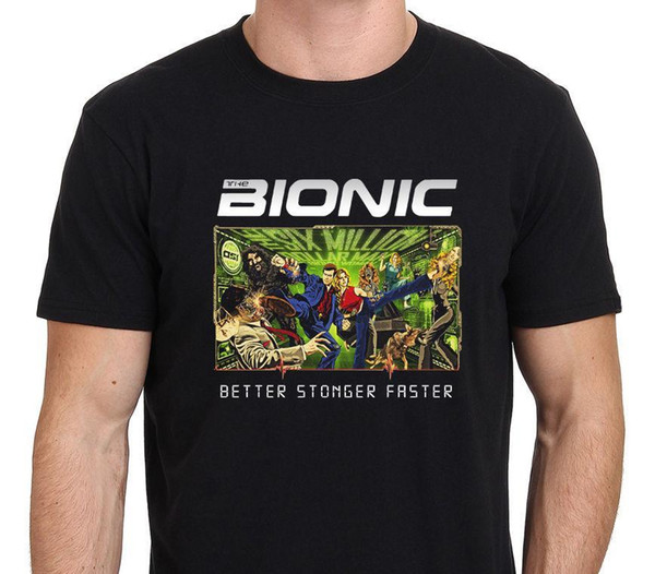 The Bionic ( Bionic Man & Woman, Dog) Kung Fu Style T-shirt Size:S-3XL Men 2017 Brand Clothing Tees Casual T Shirt Top Tee