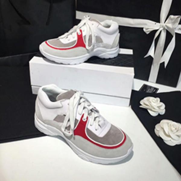 2018 New Money Uomo Donna Casual Scarpe Estate Sneaker traspirante Pelle incisa Parigi Scarpe bianche Muffin Sport Sneakers Pelle piatta