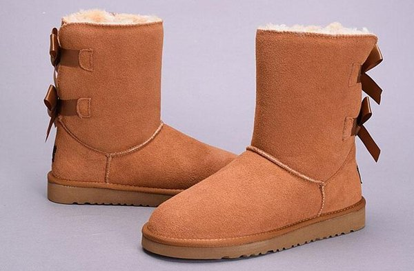 WGG New High Quality Women Australia Classic tall Boots lady girl boots Boot black chestnut Snow Winter boots leather shoes Eur 36-41