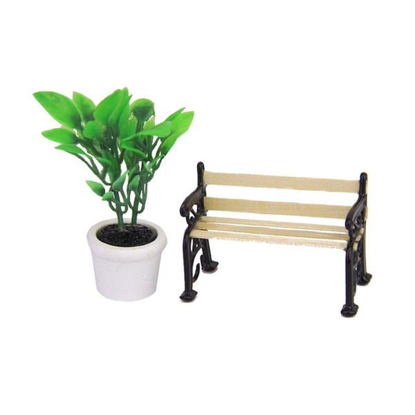 Stupendous New 1 24 Dollhouse Miniature Garden Patio Furniture Park Bench Big Dollhouses For Kids Wooden Dollhouse Accessories From Bdshop 34 1 Dhgate Com Camellatalisay Diy Chair Ideas Camellatalisaycom
