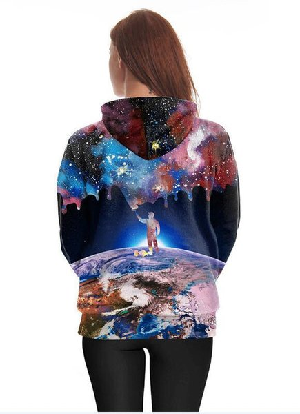 2019 New Arrival Hiphop Hoodies Autumn Winter Thin Sweatshirts With Hat 3D Printed Trees Hooded Tops Pullovers Pocket Gift clothes Apparel S