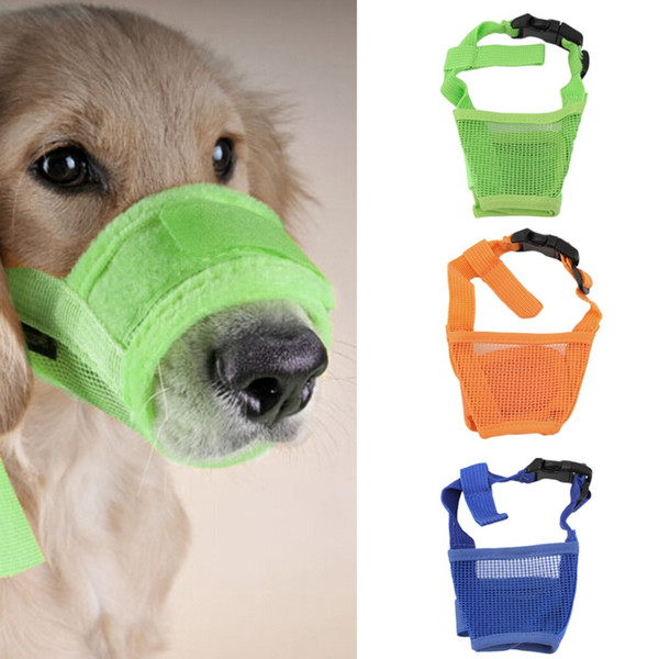 2017 New Arrival Dog Anti Bark Bite Mesh Small Large Dogs Pet Mouth Bound Device Safety Adjustable Breathable Muzzle Stop Biting