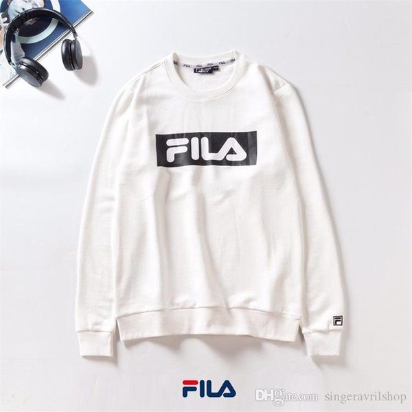 2019 New Track Suit Sweatshirt Men Women Fila Long Sleeved T Shirt Sports Leisure Round Neck Sweater Mens Brand Hoodie Sportswear Couple Pullover From