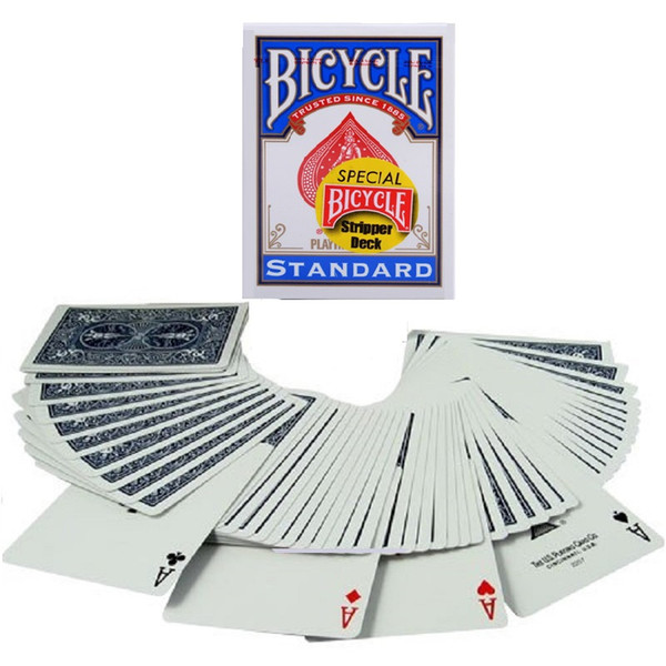 1pcs Special Bicycle Stripper Deck Magic Cards Playing Cards Close Up Stage Magic Tricks for Professional Magician Puzzle Toys