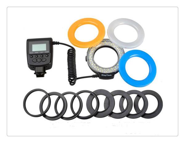 RF-550 Makro LED Ring Blitzlicht Blitzlicht für NIKON Canon Olympus (HDMI) DSLR Kameras + LCD Display kostenloser Versand