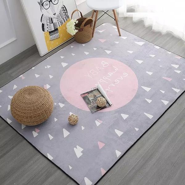 Weicher Teppich Für Kinderzimmer.Großhandel Träumen Teppich Zum Verkauf 100x150 Cm Verdicken Weiche Kinderzimmer Spielmatte Moderne Schlafzimmer Teppiche Große Rosa Teppiche Für