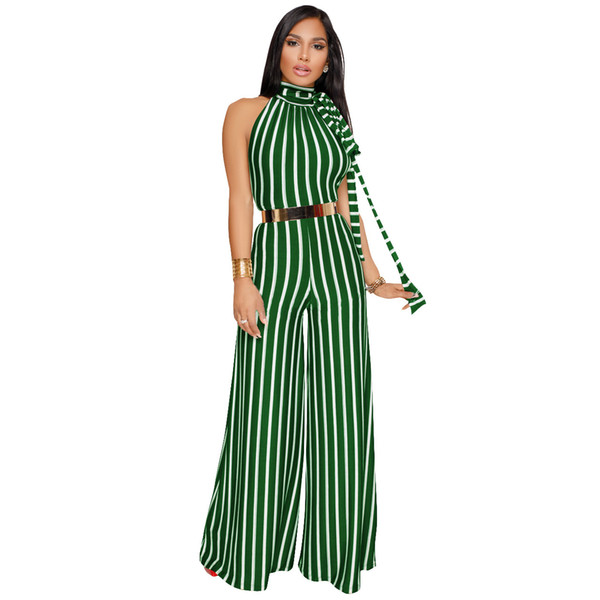 954783751b Comfortable Material Premium Women Pants Gallus Dress Jumpsuit Latest  Design Ladies Stripe suit Linen Women Printing Jumpsuit With Belt