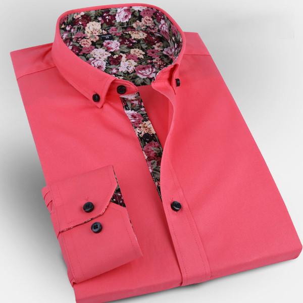 Cotton Men's Dress Shirts Slim Fit Long Sleeve Men Business Casual Social Shirt camisa masculina wedding shirts