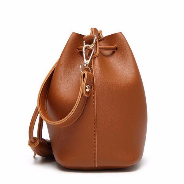 e23d2734e3c8 Handbag Tassel JIARUO Vintage Fashion Small Women Leather Bucket Bag  Handbag Tassel Drawstring Shoulder Bag Messenger Crossbody Bags Purses  Satchel ...