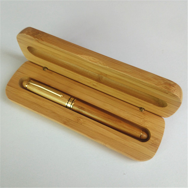 Vendita calda di bambù di lusso penna stilografica inchiostro 0.5mm marca per regali aziendali decorazione ufficio di scrittura penna a sfera cancelleria 8702