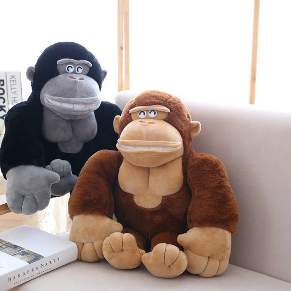 50cm Cute monkey plush toys black/brown big orangutan plush doll stuffed animals pillow birthday gift for boy
