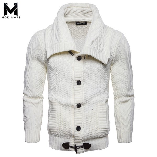 Best Selling Men's New Casual Single-breasted Solid Color Mens Sweater Fashion Business Casual Cardigan Long Sleeve Men Sweaters