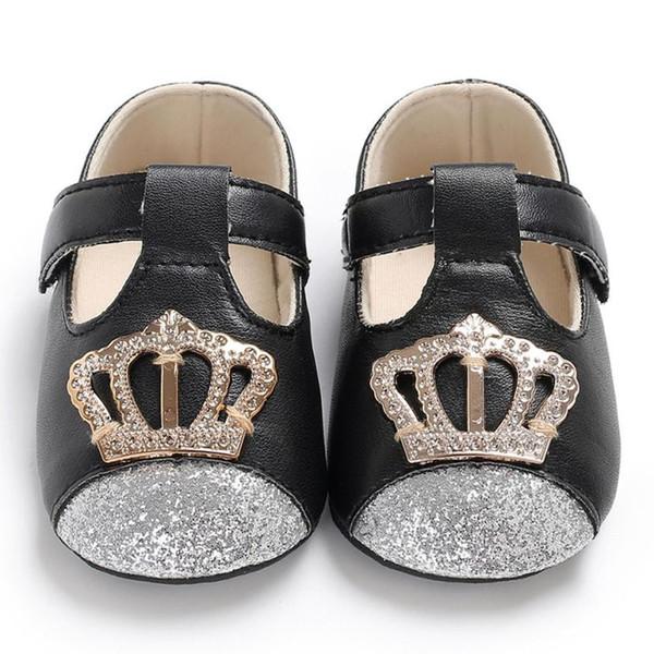 Primeiros Caminhantes ioccasin nfant Bebê Recém-nascido Meninos Meninas Pu Coroa Sapatos Berço Sapatos Macios Anti-slip Calçado Criança Prewalker