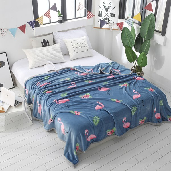 Soft Warm Flamingo/Dog/Star Printed Kids Children Adults Cartoon Blankets For Beds 1Pc Portable Travelling Throw Blanket Textile