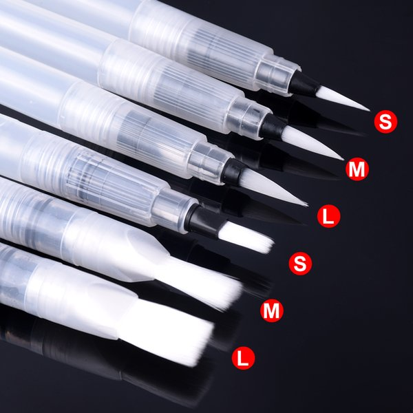 6 PCS Refillable Paint Brush Water Color Brush Pencil Soft Watercolor Pen for Beginner Painting Drawing Art Supplies