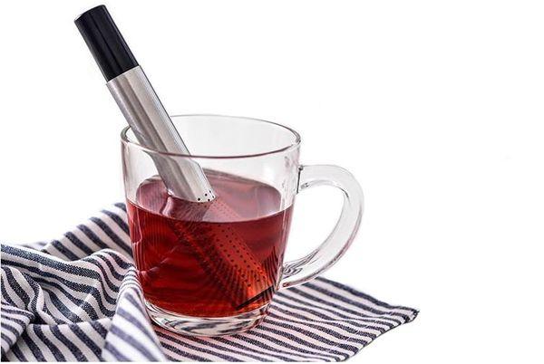Wholesae Tea Strainer Stick Stainless Steel Pipe Design Mesh Tea Filter Portable Tea Infuser Coffee Teapot Drinkware Tools