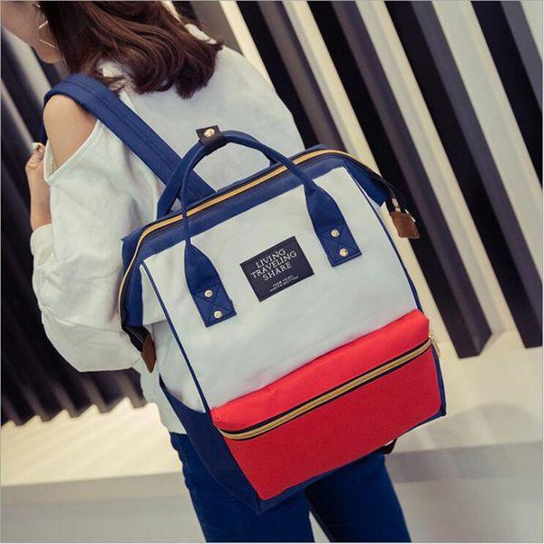 Un sac à dos bague toile école impression bague sac à dos femmes vintage brandmale femmes jeunesse sac