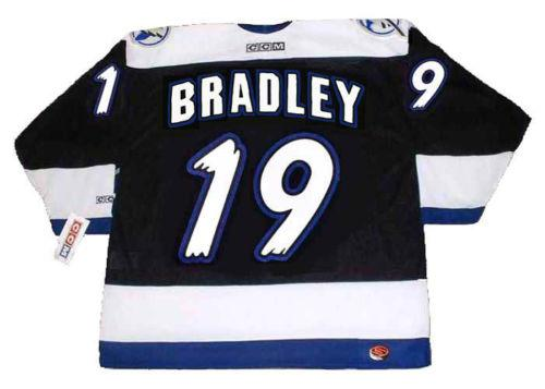 BRIAN BRADLEY Tampa Bay Lightning 1995 CCM Turn Back Hockey Jersey All Stitched Top-quality Any Name Any Number