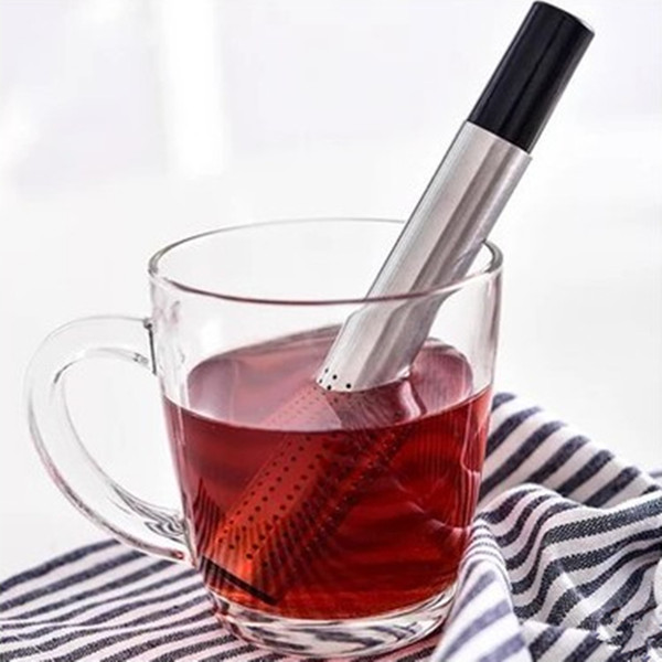 Tea Strainer Stick Stainless Steel Pipe Design Mesh Tea Filter Coffee Teapot Tools Hot Selling Portable Tea Infuser 878331