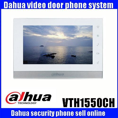 Teléfono original de la puerta del intercomunicador DAHUA de la lengua mutada DH-VTH1550CH Monitor del color de la pantalla táctil interior de 7 pulgadas VTH1550CH MONITOR