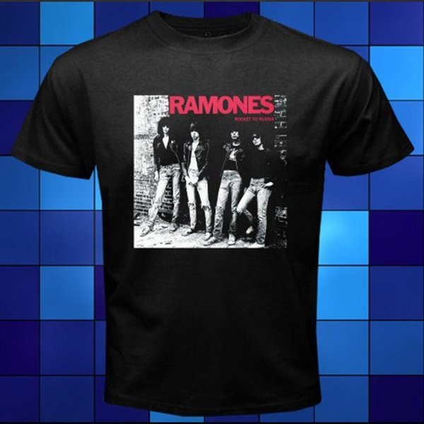 Novo O Ramones Punk Band Album Logotipo Preto T-Shirt Tamanho S M XL XL 2XL 3XL T-shirt Dos Homens de Manga Curta O-pescoço de Algodão