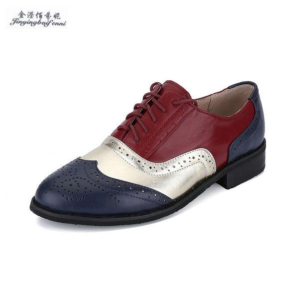 7281ab78283f Plus Size 33 45 Brogue Oxford Shoes Women Flats New Spring 2016 Fashion  Women Shoes Sapatos Femininos Sapatilhas Zapatos Mujer Vegan Shoes Cheap  Heels ...