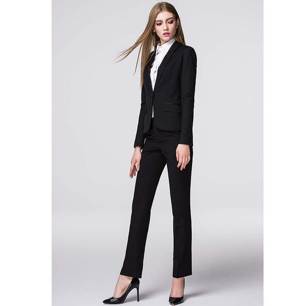 New Promotion New Arrive Custom Made Spring Autumn Formal Women Suits Elegant Fashion Ladies Office Uniforms For Work Clothing