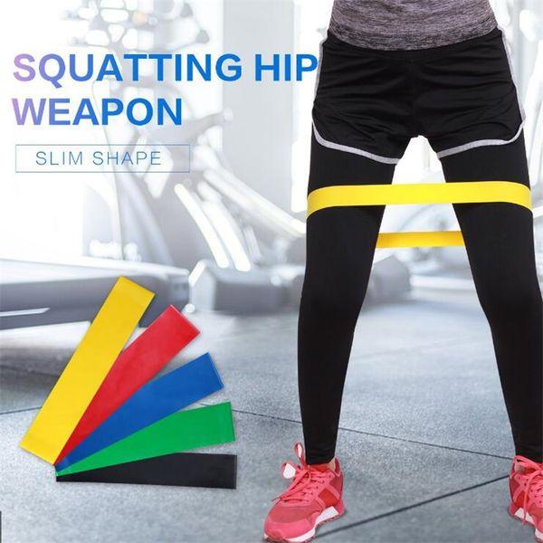 Yoga Resistance Band 5 pieces/lot Fitness Strength Training Resistance Band Fitness Equipment Sports Yoga Belt Toys LA754