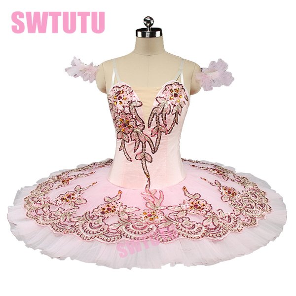 professionelle Ballett Tutu Sugar plum Fee Kind klassischen Ballett Tutus rosa Nussknacker Performance Tutu Ballett Stage CostumeBT9135