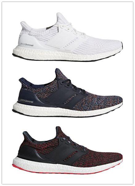 (Con caja) 2018 Ultra Boost 3.0 4.0 Triple Blanco y negro Primeknit Oreo CNY Azul gris Zapatillas deportivas ultraboost Sneaker 36-45