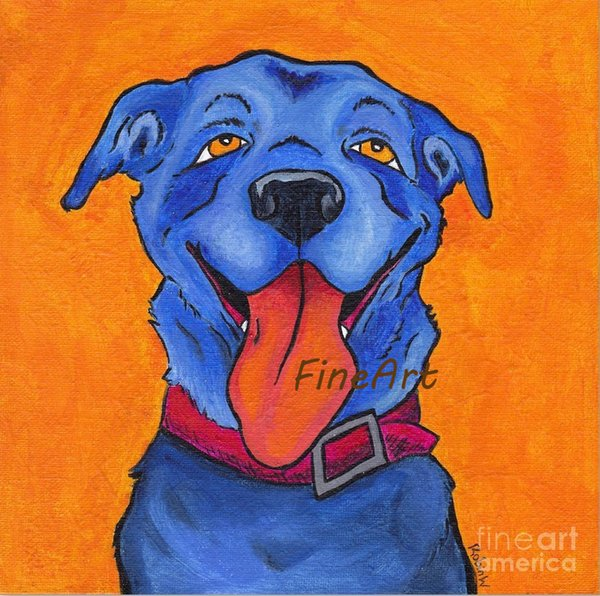 discount canvas abstract blue dog oil painting animal canvas art wall decor canvas paintings for kids rooms discount wall painting ideas hom