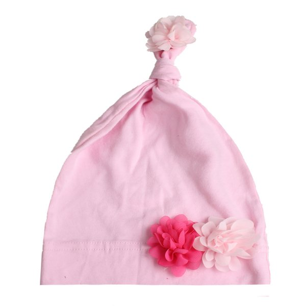 Baby pink baby hat