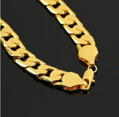 Stainless steel jewelry classic style jewelry chain NK gold, steel color unisex necklace Length: 60cm *10mm 2148