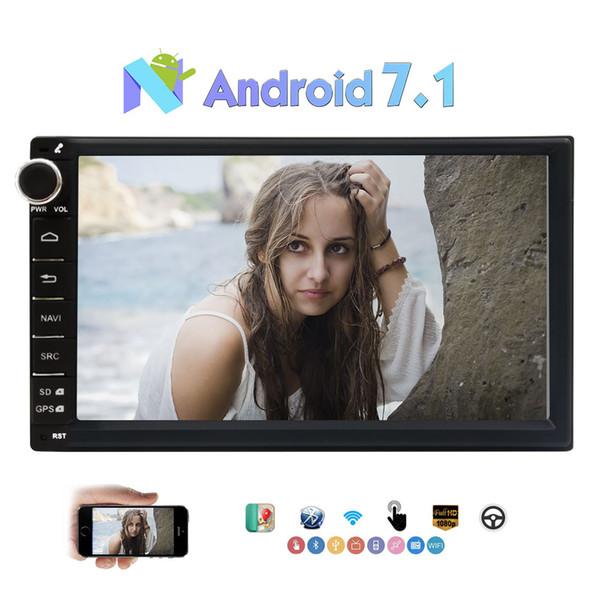 "top popular Android 7.1 Octa-core 2GB+32GB 7"" 1024*600 Touchscreen 2 Din Car Stereo Multimedia Player GPS Sat Nav FM AM Radio Dual Camera OBD2 2021"