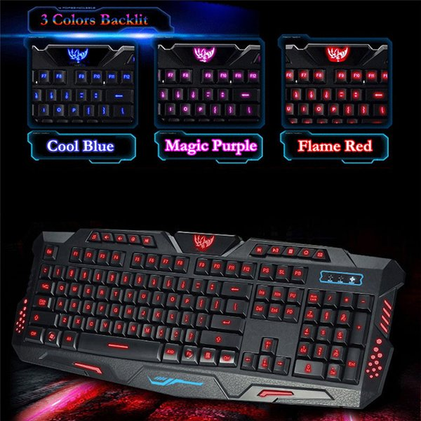 LED Backlight USB Wired Multimedia PC Gaming Crack Keyboard Adjustable Cooling Game Teclado Waterproof Gamer Klavye for Computer