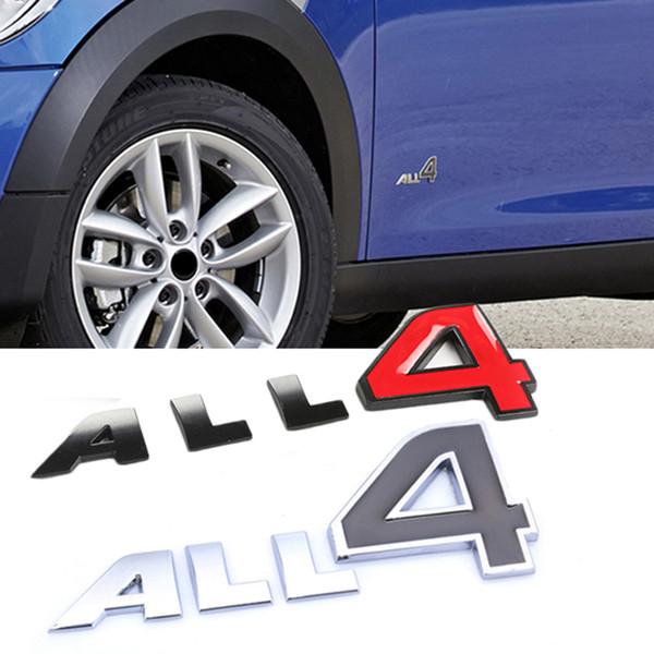 3D Lettre Tous 4 Car Body Side Logo Autocollant Emblème Badge Stickers Auto Décoration Fit Pour MINI Cooper JCW S Car styling Accessoires