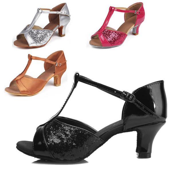 Dancing Shoes Latin Tango Women Adult For Girl Ballroom indoor Shoes Discount Brand Shoes Heel Hight 5cm 808