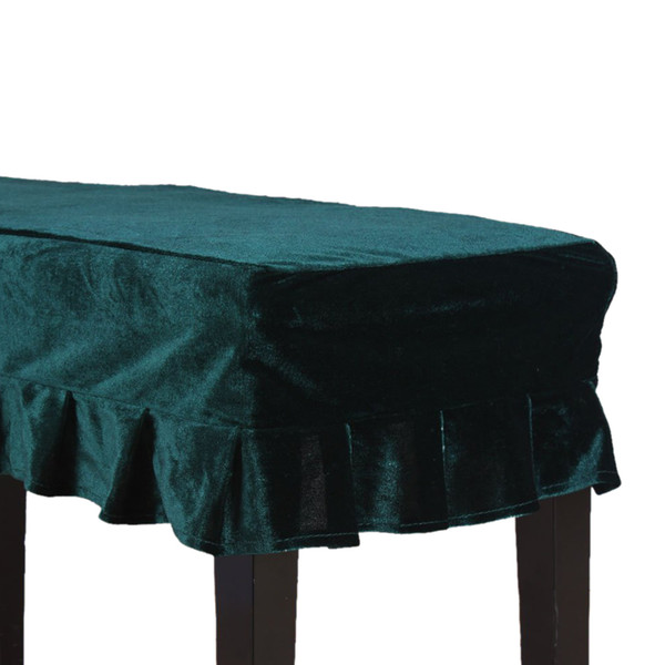 Universal Piano Stool Chair Bench Cover Pleuche Decorated with Macrame 75 * 35cm for Piano Dual Seat Bench Green