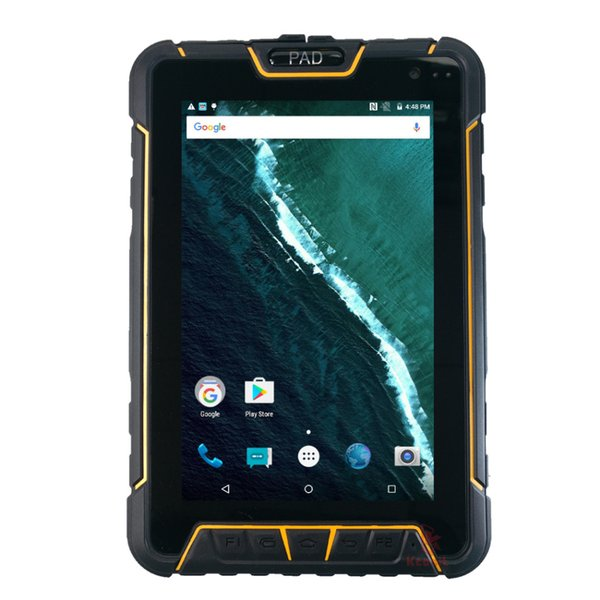 top popular ST907 Rugged Tablet Waterproof PC QR 1D 2D Laser Barcode Reader Scanner Android Handheld Mobile PDA UHF RFID NFC Fingerprint GPS 2019