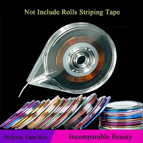 Nail Art Tools Stickers Roller Box Holder Easy Use Clear Design Striping  Tape Line Case Tool For DIY Manicure Beauty Fake Nails Nail Design Ideas  From