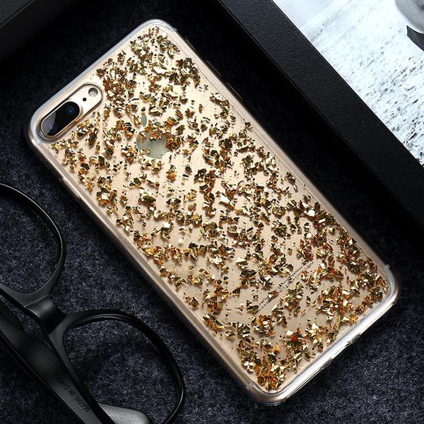 Netter Glitter-Kasten für iPhone 8 7 6 6S Plus 5 S SE X Abdeckung freier transparenter Kasten für Note S6 der Samsung-Galaxie S8 plus S7 S6 Rand-S5