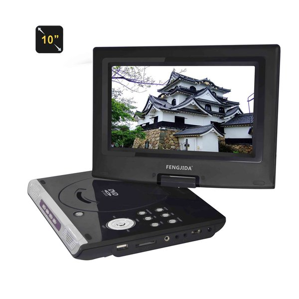 wholesale 10 inch Portable Multimedia Video Player Car DVD Player Digital Multimedia Player with FM TV Game Card Read 3 Hour Battery life