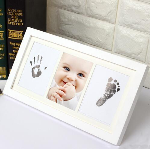 Free Shipping DIY Photo Frame Newborn Baby Handprint Footprint Inkless Touch Ink Pad Girl/Boy Baby Shower Gift decoration